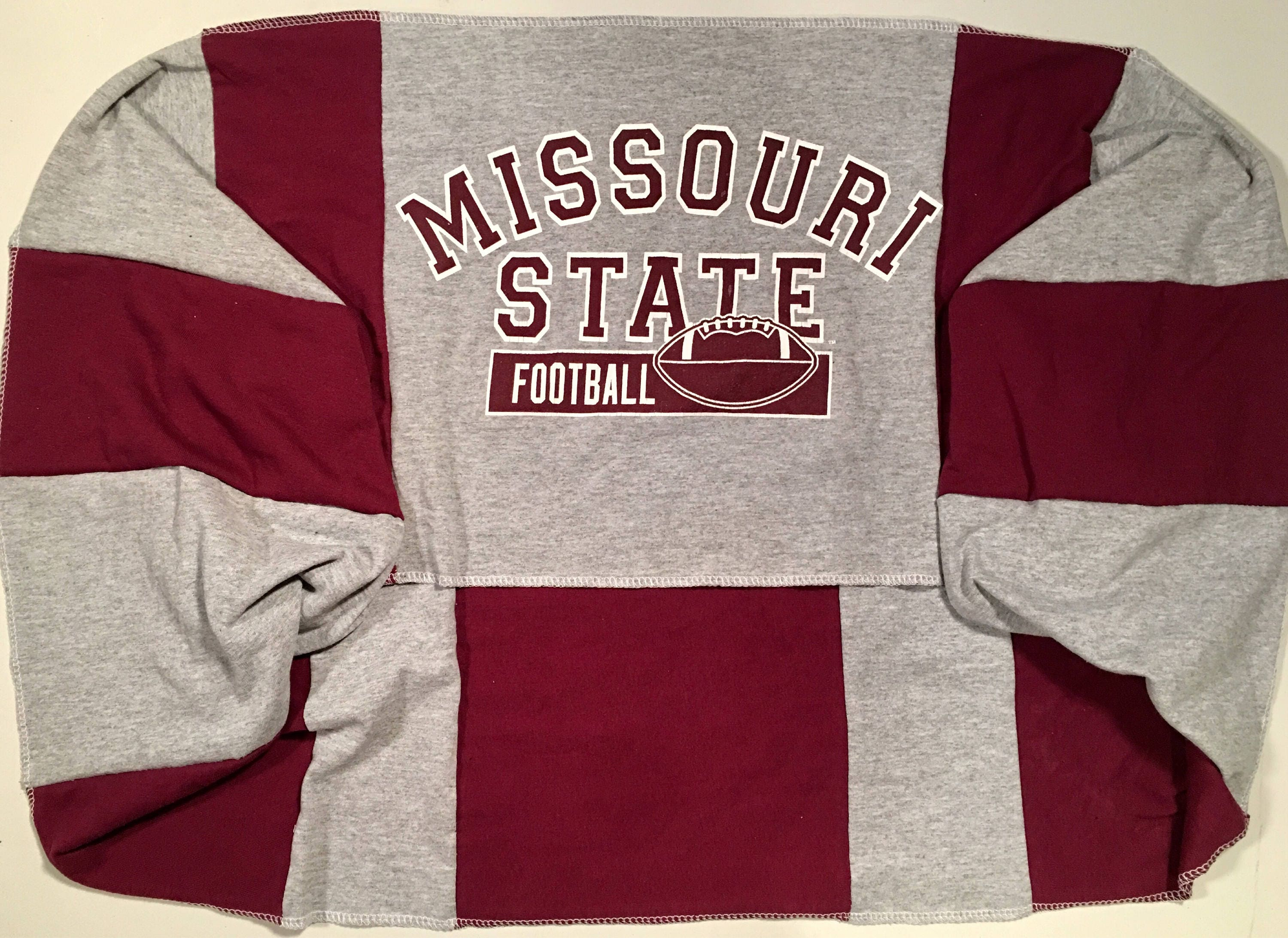 Infinity Scarf MSU MISSOURI State University BEARS Football Team Spirit Upcycled Woman's T-Shirt New Handmade Scarves