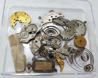 Antique, Vintage, Steampunk, Watch, Pocket Watch, Cogs, Gears, Wheels, Lot, over 60 gr, Jewelry, Beading, Supply, Supplies