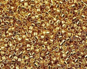 11/0 MIYUKI Delica Beads DB-31, 24Kt Gold Plated 20grams