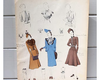 Vintage Print of Designer Clothing, Vintage Fashion