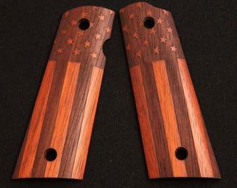 Custom Laser Engraved Full Sized 1911 Grips