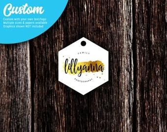 Hexagon Custom Tags | Jewelry Tags | Price Tags | Hang Tags | Favor Tags | Blank or Custom | SH209