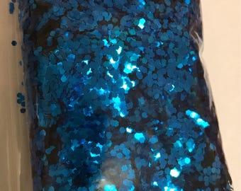 Blue Metallic .062 (1/40) glitter over 1 oz