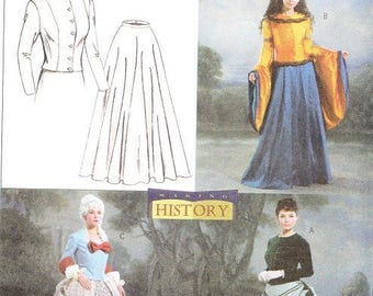 Butterick 4154 Misses' Historical Tops and Skirts Sewing Pattern