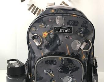 boys backpack, school backpack, monogram backpack, toddler backpack, star wars backpack, monogrammed backpack, book bag, back to school