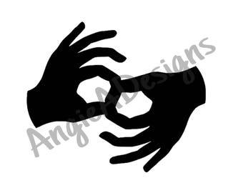 American Sign Language Interpreter SVG