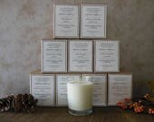 custom for jennifer | wholesale lot of 48 candles and 12 bath soaks in apothecary jar