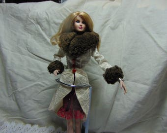 Winter coat n boots for Barbie,Integrity,Fashion Royalty ecy.........#1