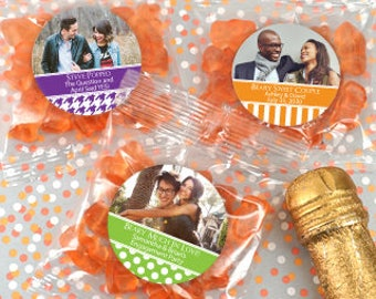 Photo Personalized Gummy Bear Favor Packs - SET OF 24