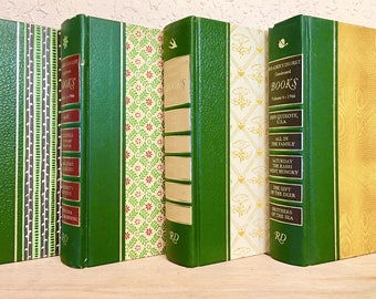 CUSTOM BOOK LETTER from Reader's Digest for shelf or wall, wedding gift, teacher gift, vintage, cut book, recycled books,