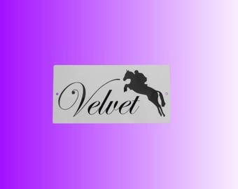 Horse stable name plaque/Stable name plate/Horse Plaque/Horse Stable/Horse gift