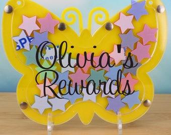 Personalised Reward Jar/Reward Drop Box/Childrens Drop Box/Reward for children/Kids dropbox/Kids reward jar/Reward Jar/childrens routine