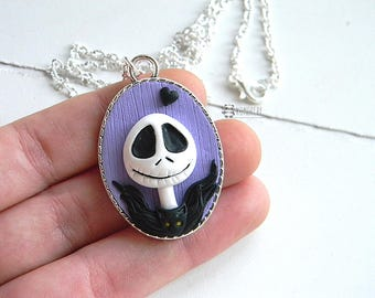 Jack Skellington, Nightmare before Christmas, cameo Necklace