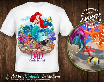 Little Mermaid Birthday Shirt, Little Mermaid Birthday Shirt for family