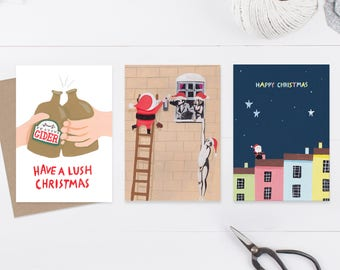 Bristol Christmas card pack (3 pack)