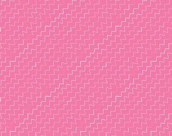Hand drawn Zig Zags on Pink - HTV or Permanent Glossy or Permanent Matte Vinyl