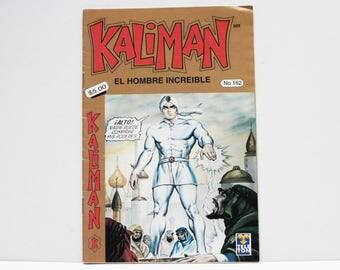Kaliman El Hombre Increible No 162 El Dragon Rojo Revista en Español Comic Book in Spanish RARE