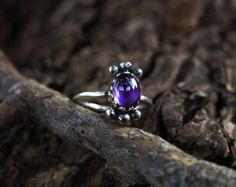 Size 7 Amethyst Sterling Silver Ring