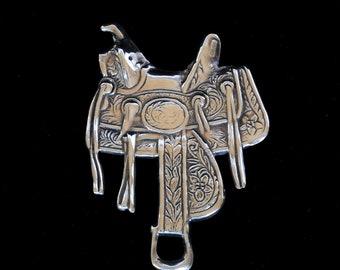 Vintage Silver Saddle Brooch