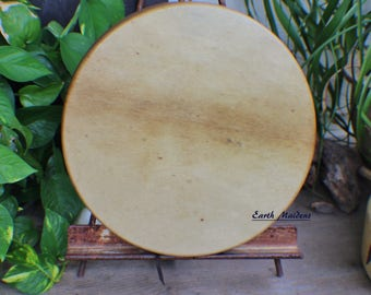"""12"""" Elk Hide Hand Drum Native American Made William Lattie Cherokee comes w/ Certificate of Authenticity FREE US SHIPPING"""