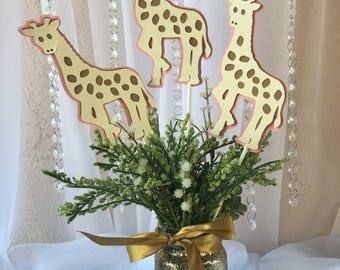 Pink Giraffe Centerpieces stick/ Giraffe stick/ Giraffe theme/ Giraffe baby shower