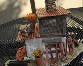 miniature house, contemporary beach house,shore gifts, unique gifts,shore