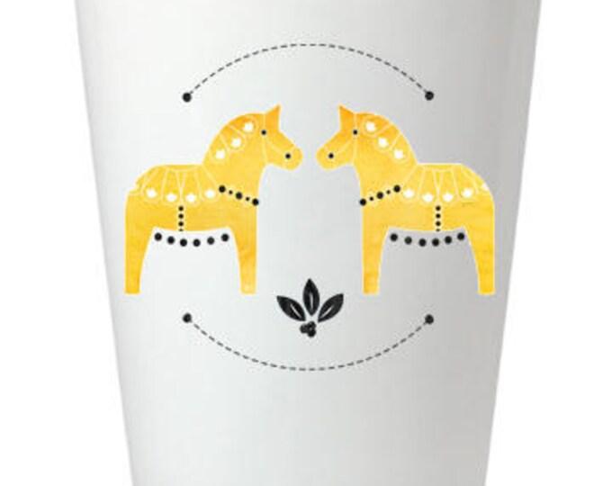 Yellow Dala Horse Shot Glass