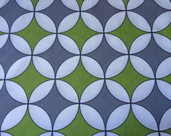 "Geometric Scandinavian Swedish fabric by SERHOLT  - 100% Cotton canvas fabric  -  150 cm wide (59"")"