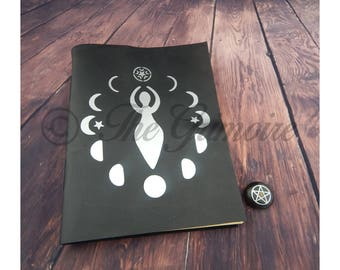 Book Of Shadows Leather Book 280 Pages of Spells & Rituals Handbound, Wicca, Witchcraft, Real Wiccan Spells, Real Spell Book