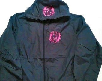 Monogram Rain Coat - Monogram Rain Jacket - Monogram Windbreaker - Monogram Coat - Personalized Jacket - Women's Jacket - Monogrammed Jacket