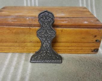 Antique Victorian Ornate Paper Clip/Holder. Hanging.