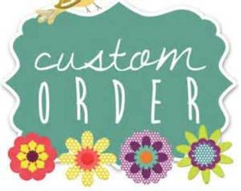 Custom dried wedding flower hair comb for Kirsten