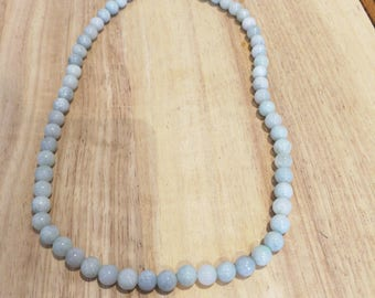Jadeite beads Certified Necklace 21 inches Certified icy Natural A jadeite
