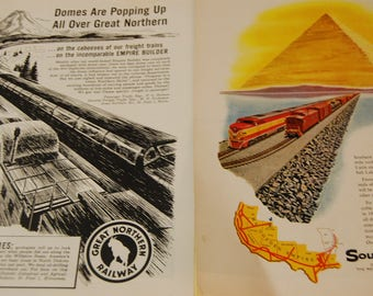 RAILROAD Advertising Sheets-Vintage- Hard to Find --HICV