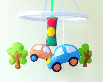 Crib mobile Baby mobile Nursery mobile Baby crib mobile Baby mobile hanging Felt mobile car crib mobile baby boy mobile girl mobile