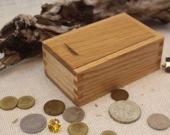 Sliding Lid Box, Oak Sliding Lid Box, Box with Sliding Top, Sliding Top Wooden Box, Oak Sliding Top Box, Oak Box, Keepsake Box,  (st51129O)