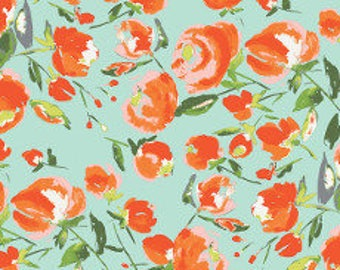 Fabric - Art Gallery - Everlasting Blooms Citrus From Wild Bloom Designed By Bari J - cotton print.