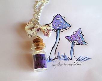 "Purple ""Drink Me"" vial necklace"
