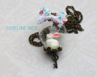 globe necklace Bunny