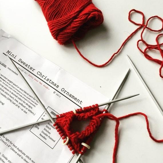 Knitting PATTERN / Christmas Ornament / Heart Mini Sweater ...