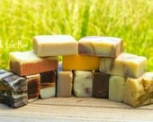 3lbs NATURAL HERBAL SOAP, 3 pounds your choice- organic, handmade cold processed soap, and essential oils