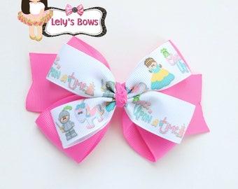 Princess Hair Bow, hair bow, hair clip, once upon a time hair bow, princess bow, fairy tale hair bow, princess bow, unicorn hair bow