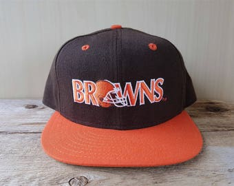 Cleveland BROWNS Original Vintage 90s New Era 5950 Pro Model Fitted Wool Hat 7 1/2 Official NFL Classic Team Collection Cap NWOT Deadstock