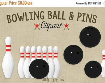 80% OFF SALE Bowling Ball and Pins Clipart, 300 dpi png file, commercial use graphics, high quality 3d render bowling pins
