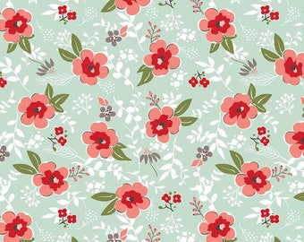 Sweet Prairie, Riley Blake, C6540-MINT, Prairie Main Mint - Mint Floral - IN STOCK