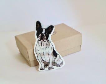 French Bulldog Brooch