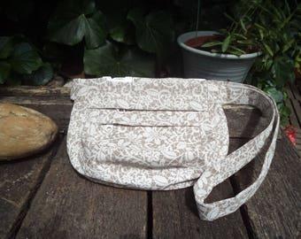 Floral canvas fanny pack,belt bag,hip bag