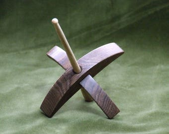 Mini Turkish spindle in American black walnut and ash 0.7 oz / 21g
