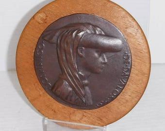 Alva Studios Don Inigo de Davalos Bronze and Wood Paperweight