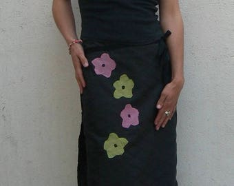 long skirt with four flowers 3 in 1 system
